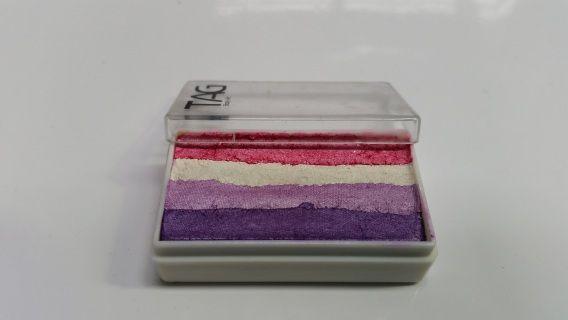 Delicate shimmer colours for feminine face paint designs