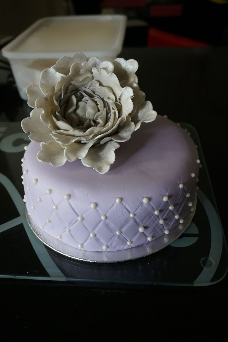 Quilted Purple Cake. Made by Mary Paradissis.
