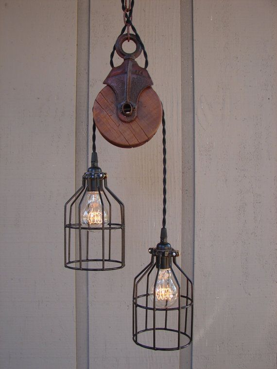 Going to upcycle our pulleys into these!                                                                                                                                                                                 More