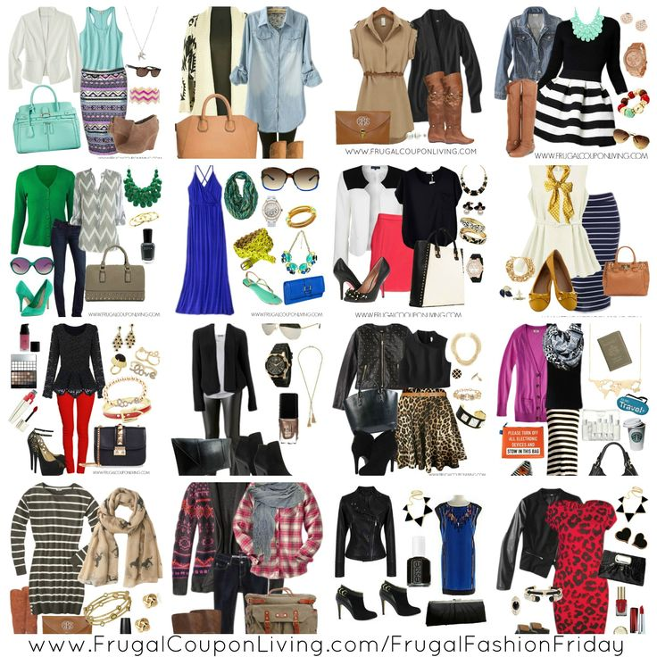 Frugal Fashion Friday Outfits on Frugal Coupon Living similar to Polyvore Outfit Collage Looks