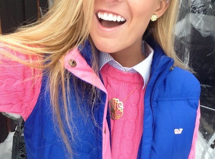 pink, blue, and monogram....love~