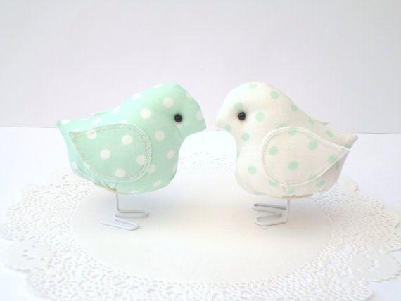 Mint Green Birds by rubyandlen on Etsy