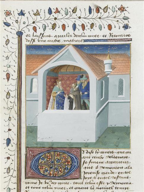 Roman de Tristan en prose Maître de Charles du Maine (15e siècle) ,  enlumineur  COTE CLICHÉ06-514428N° D'INVENTAIREMs648folio415rectoFONDSMiniatures Et EnluminuresDESCRIPTION:1440-1460