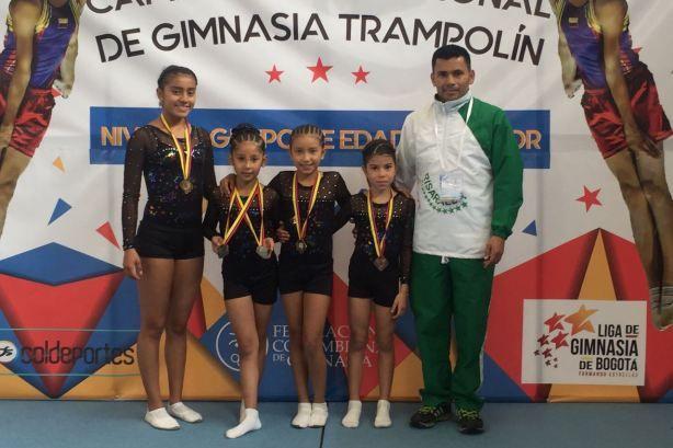 Seis medallas de oro, 4 de plata y 2 de bronce logró Risaralda en el Campeonato Nacional de Trampolinismo en Bogotá esta semana