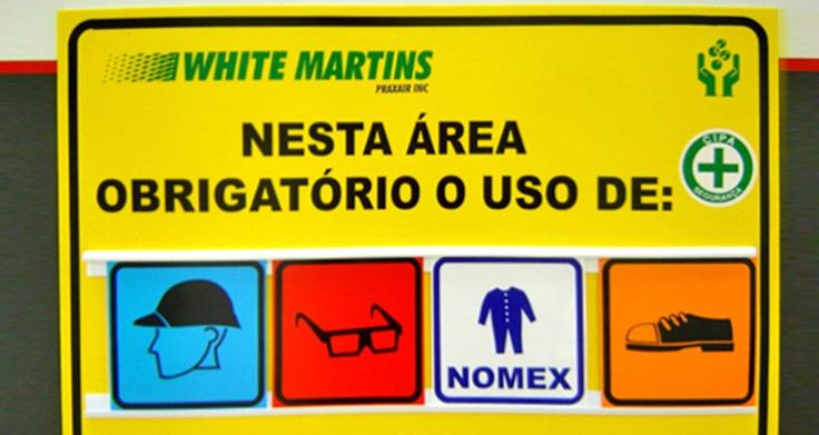 Sinalização de Segurança - White Martins
