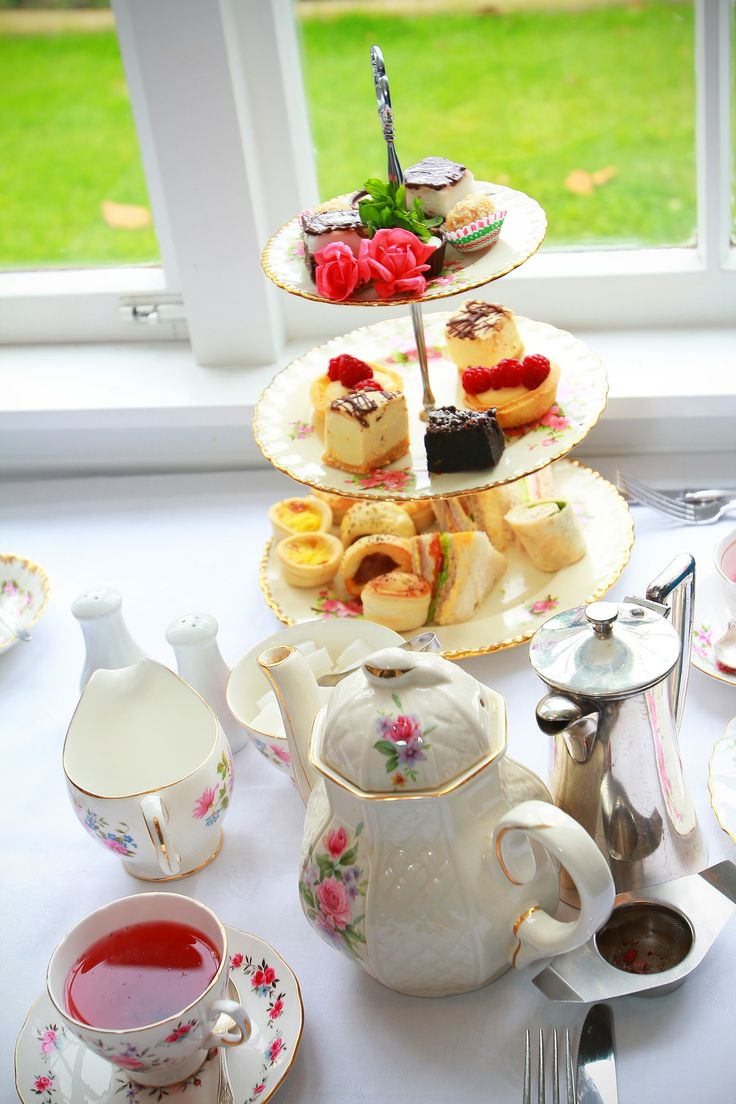 A Royal High Tea with fine china and antique silverware at The Tea House