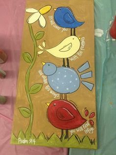 Canvas painting Bird painting