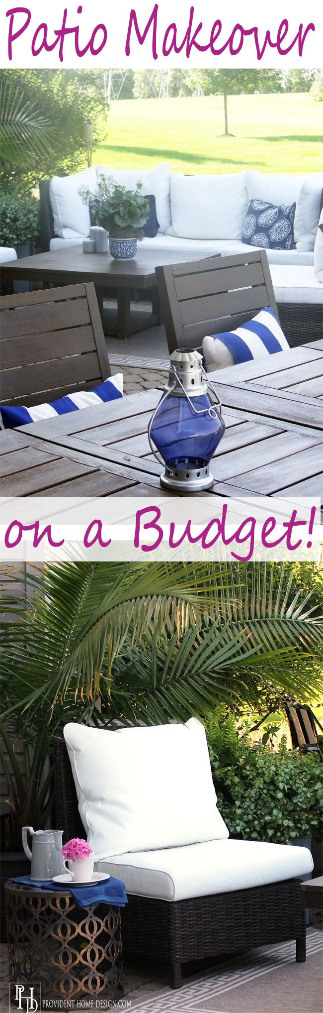Come see how I furnished my patio space with garage sale finds, curbside throw always, and great deals to create a beautiful outdoor oasis! Decorating with style on a budget!