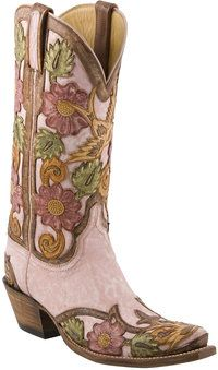 L4691  Ladies Lucchese Classics with Eden Filigree Hand Tooling