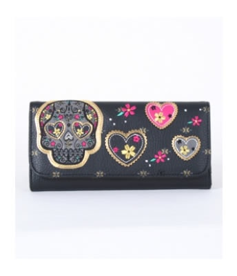 SUGAR SKULL HEART EYES WALLET | hart Cool Gifts