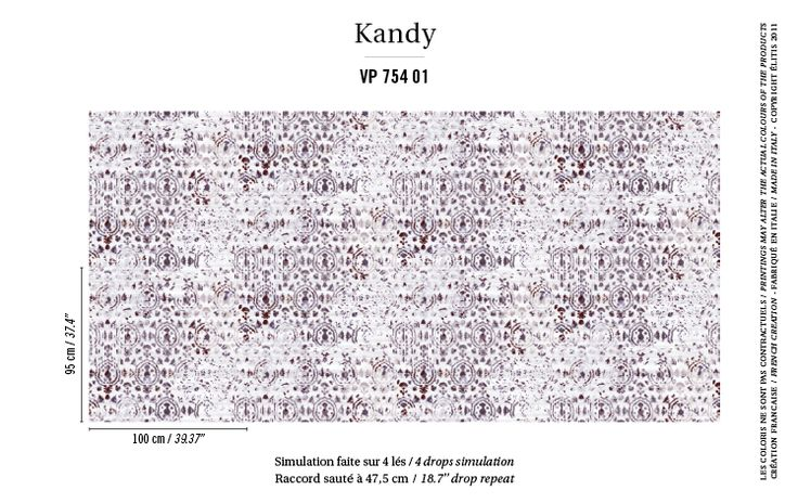 Papier peint Kandy VP 754 01 - Elitis