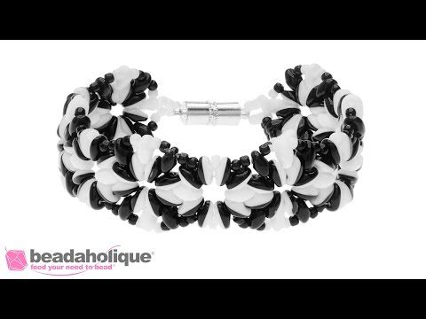 http://www.beadaholique.com - Learn how to bead weave the SuperDuo Blooms bracelet, an exclusive jewelry kit by Beadaholique. You will learn how to make the ...