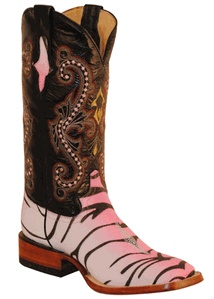Pink Stingray Print Square Toes by Ferrini
