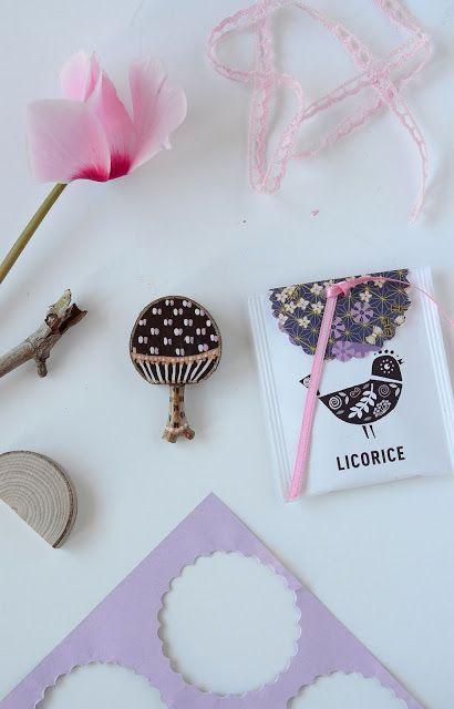confezione regalo realizzata co le bustine del tè