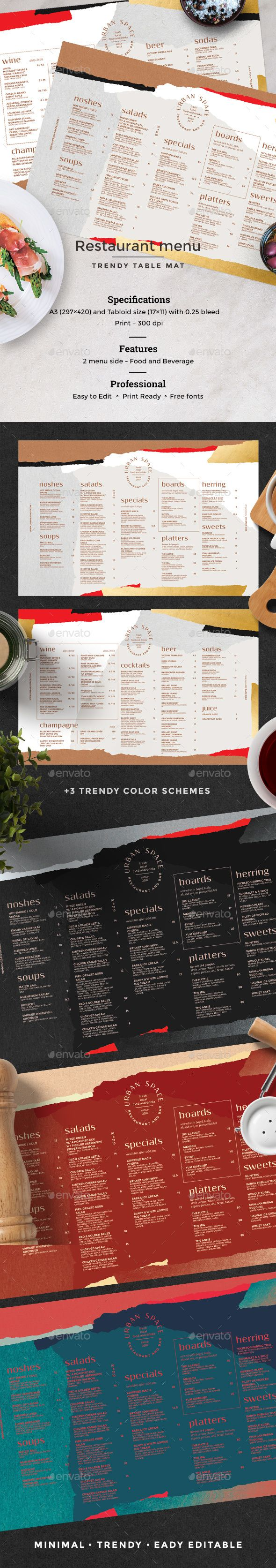 Restaurant Menu — Photoshop PSD #a3 #elegant • Available here ➝ https://graphicriver.net/item/restaurant-menu/20836254?ref=pxcr