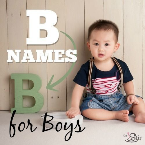 25 beautiful 'B' names for little boys!
