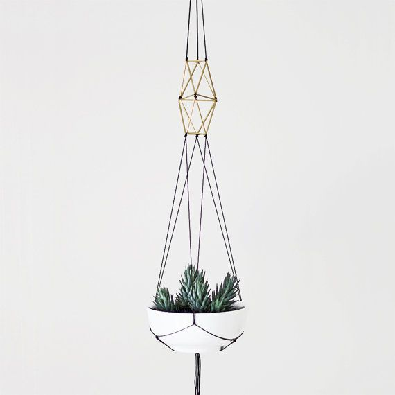 Brass himmeli plant hanger no 1 by HRUSKAA