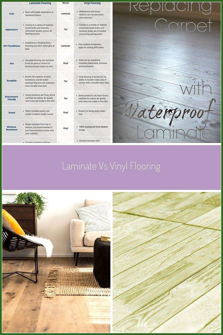 FlooringInc Laminate vs Vinyl Flooring infographic