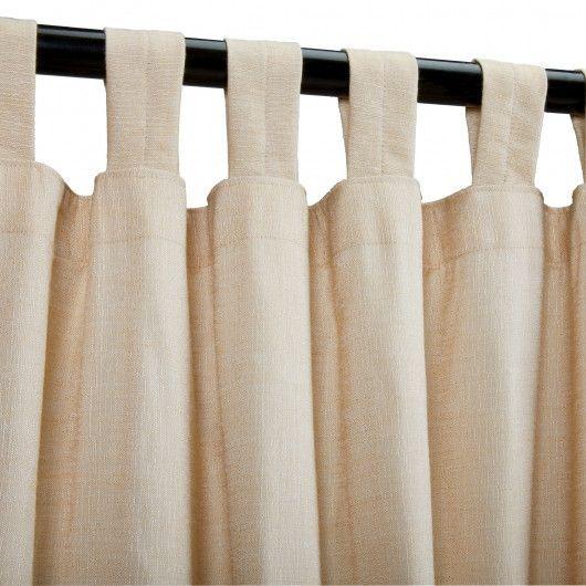 Honey(Sheer) Sunbrella Outdoor Curtains Tab Top