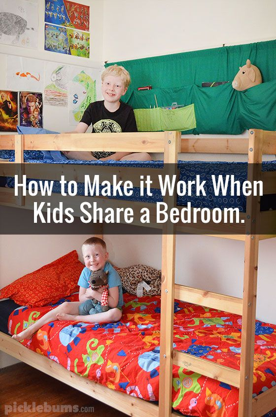 How to make it work when children share a bedroom.