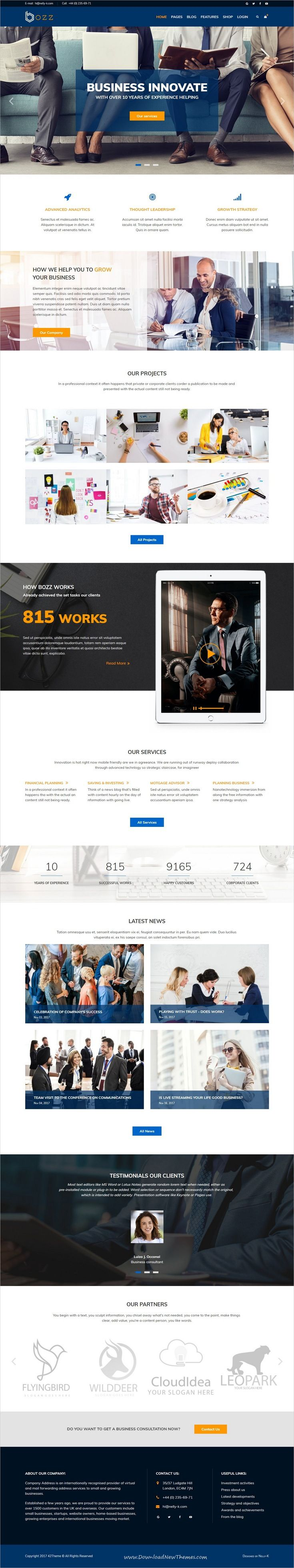 Bozz is clean and modern design responsive #Joomla template for #corporate business #website to live preview & download click on Visit 👆