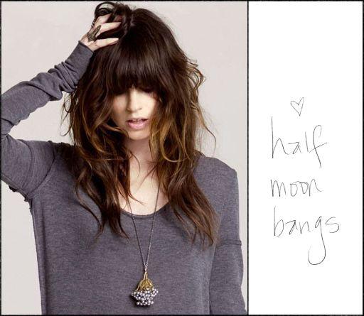bangs @Marie Trull: Haircuts, Hairstyles, Hair Colors, Half Moon Bangs, Long Hair, Bangs Hair, Hair Cut, Hair Style, Hair Looks