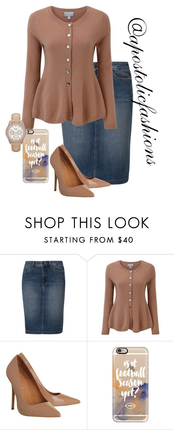 """Apostolic Fashions #1397"" by apostolicfashions on Polyvore featuring NYDJ, Pure Collection, Office, Casetify and FOSSIL"