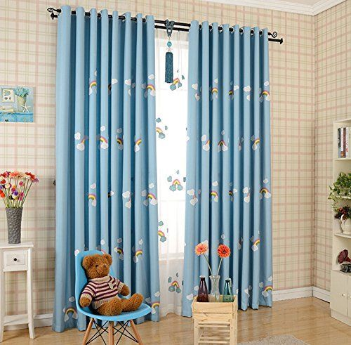 Child Room Window Curtain W39 H84 Inch Cute Lovely Rainbow Drape for Girls Boys Kids Room 1Panel Material: Blackout Cloth Process Way:Punch Process(4cm/1.7inch or less) Package Include: 1 Panel of Blackout Cloth(Donot include the sheer) Due to the Light and Screen Difference, the Item's...