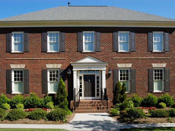 1000 Ideas About Brown Brick Houses On Pinterest Tri