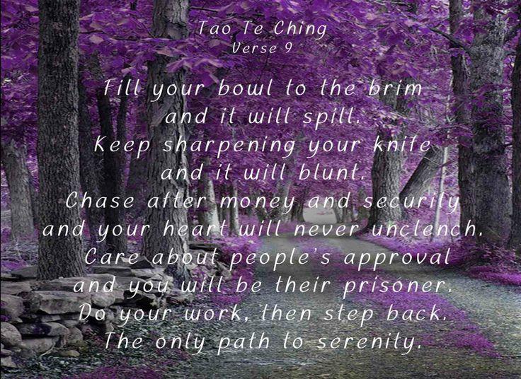 tao te ching verse tao tao te ching verses and  tao te ching verse 9 tao tao te ching verses and poetic justice