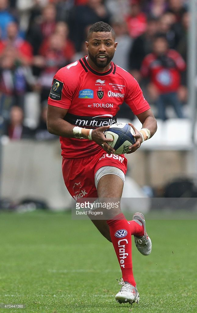 <a gi-track='captionPersonalityLinkClicked' href='/galleries/personality/556925' ng-click='$event.stopPropagation()'>Delon Armitage</a> of Toulon during the European Rugby Champions Cup semi final match between RC Toulon and Leinster at Stade Velodrome on April 19, 2015 in Marseille, France.