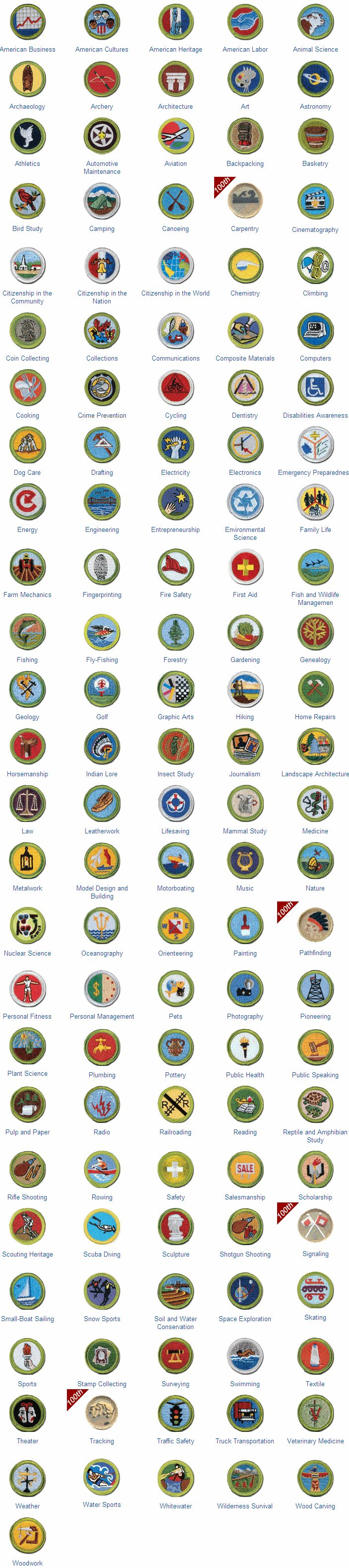 16 best boy scout merit badges images on pinterest merit badge list of merit badges 2010 great collection badges and names robcynllc Image collections