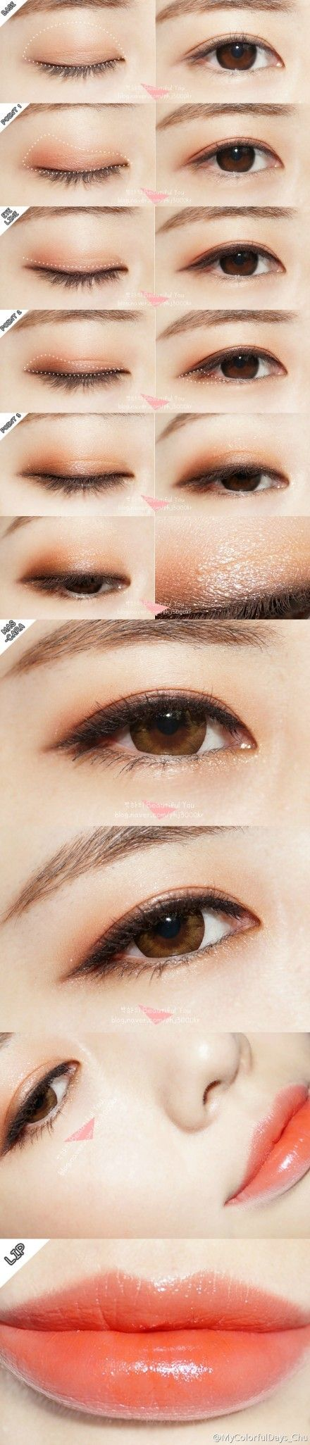 asian make-up using NEO Extra Size Dali Brown circle lenses from EyeCandy's || SHOP >> http://www.eyecandys.com/neo-extra-size-dali-brown/