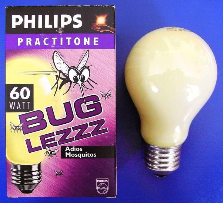 5 x Philips Glühlampe Anti - Insektenlampe BUG LEZZZ 60W 60 W Watt E27 Gelb NEU
