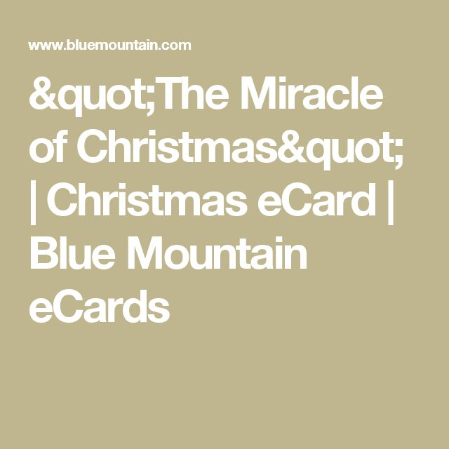 """""""The Miracle of Christmas"""" 