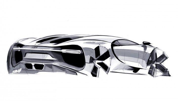 Bugatti Chiron Design Sketch