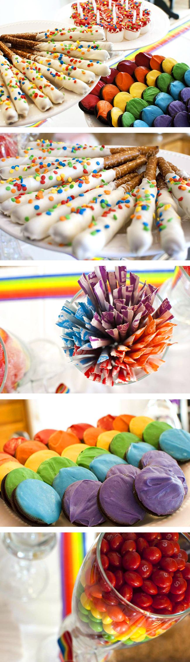 25 best ideas about rainbow theme on pinterest rainbow party themes - Bright And Pretty Rainbow Theme Birthday Party