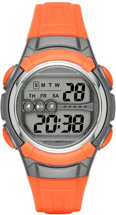 FASHION WATCHES Womens Grey Case Orange Plastic Strap Digital Watch   https://api.shopstyle.com/action/apiVisitRetailer?id=612691421&pid=uid2500-37484350-28