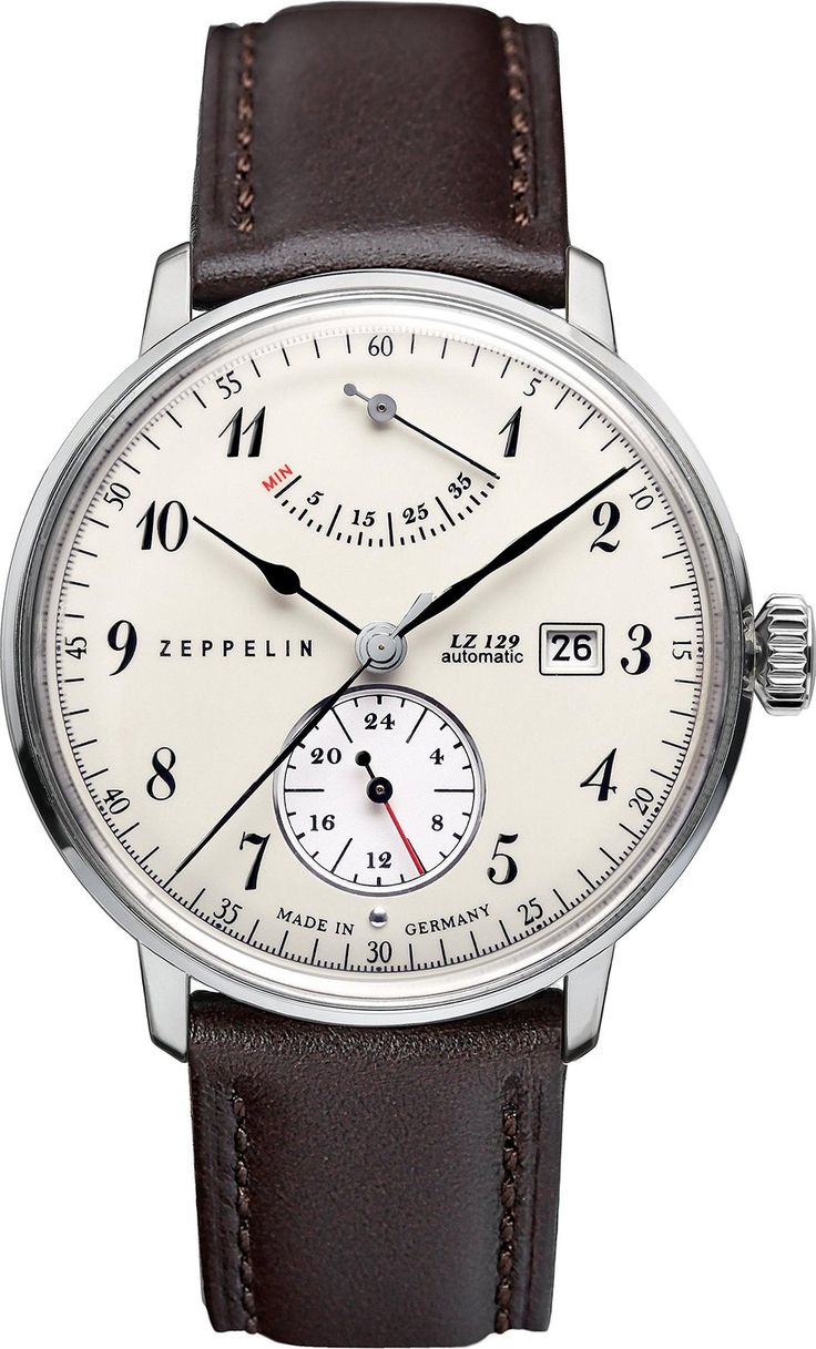 Zeppelin Watches Herren-Armbanduhr XL Analog Automatik Leder 70604: Amazon.de: Uhren