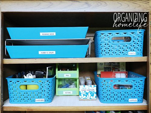 How to Create a Kitchen Command Center Part 2 ~ Organize Your Kitchen Frugally Day 20
