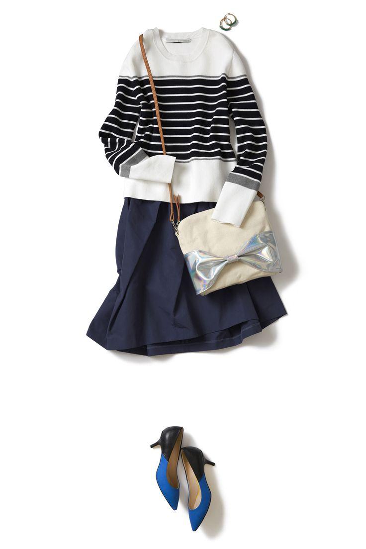 レディなスカートでシックに始める春スタイル ― B