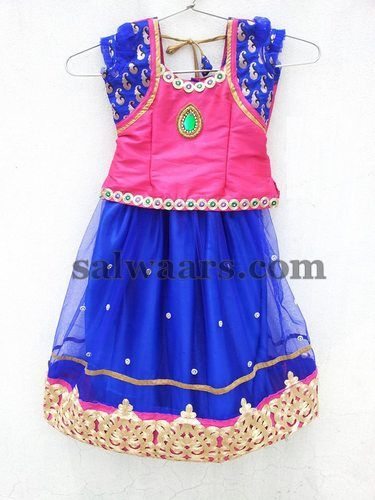 Parsi Work Kids Net Lehenga | Indian Dresses