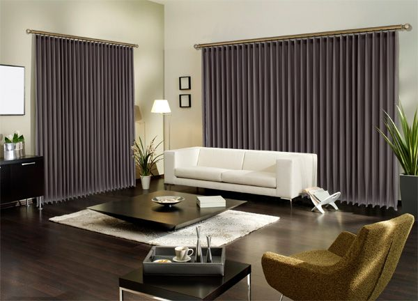 Drapefold combines the soft, natural look of drapes with the practicality of vertical blinds. Smart thinking!