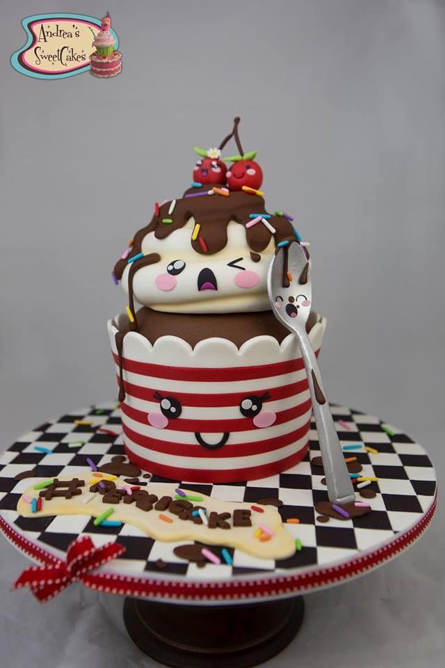 Super cute kawaii birthday cake decoration inspiration