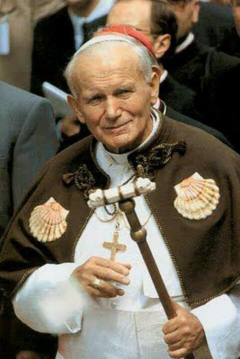 En el camino de Santiago… San Juan Pablo II.