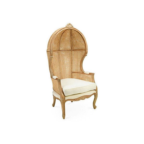 Charming Once Used In Medieval England, A Classic Canopy Chair Adds Elegance And  Drama To Any Decor. This Interpretation Boasts A Mindi Wood Frame With  Wicker Caning ...