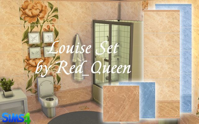 Download Walls/Floors Louise Set by Red_Queen for The Sims 4