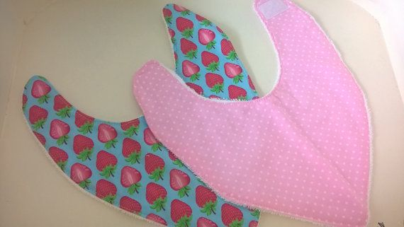 Beautifully soft bamboo girls baby bibs. So sweet for a baby girl present.Check out this item in my Etsy shop https://www.etsy.com/au/listing/290958127/set-of-2-bamboo-bandana-dribble-bibs