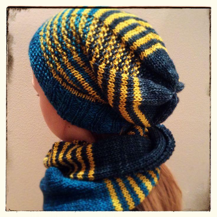 Hat and scarf. Yarn Madeleinetosh Tosh Sport, pattern by me. Pipo ja huivi, oma malli.