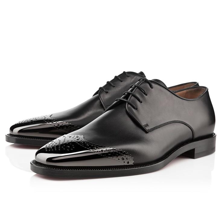 Christian Louboutin Gareth Zip Men's Flat Black Leather
